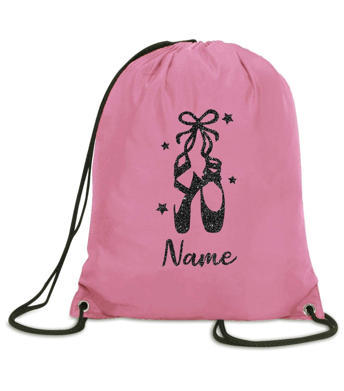 Purple Print House Personalised Dance Bag for Girls Dance Drawstring Bag Dancing Gift Pink Unicorn Gifts