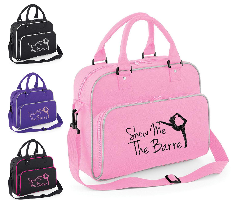 Childrens Personalised Unicorn Glitter Barrel Bag Kids Girls Horse Riding Gift
