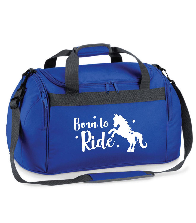 Childrens Personalised Glitter Horse Backpack Girls Boys Riding School Rucksack