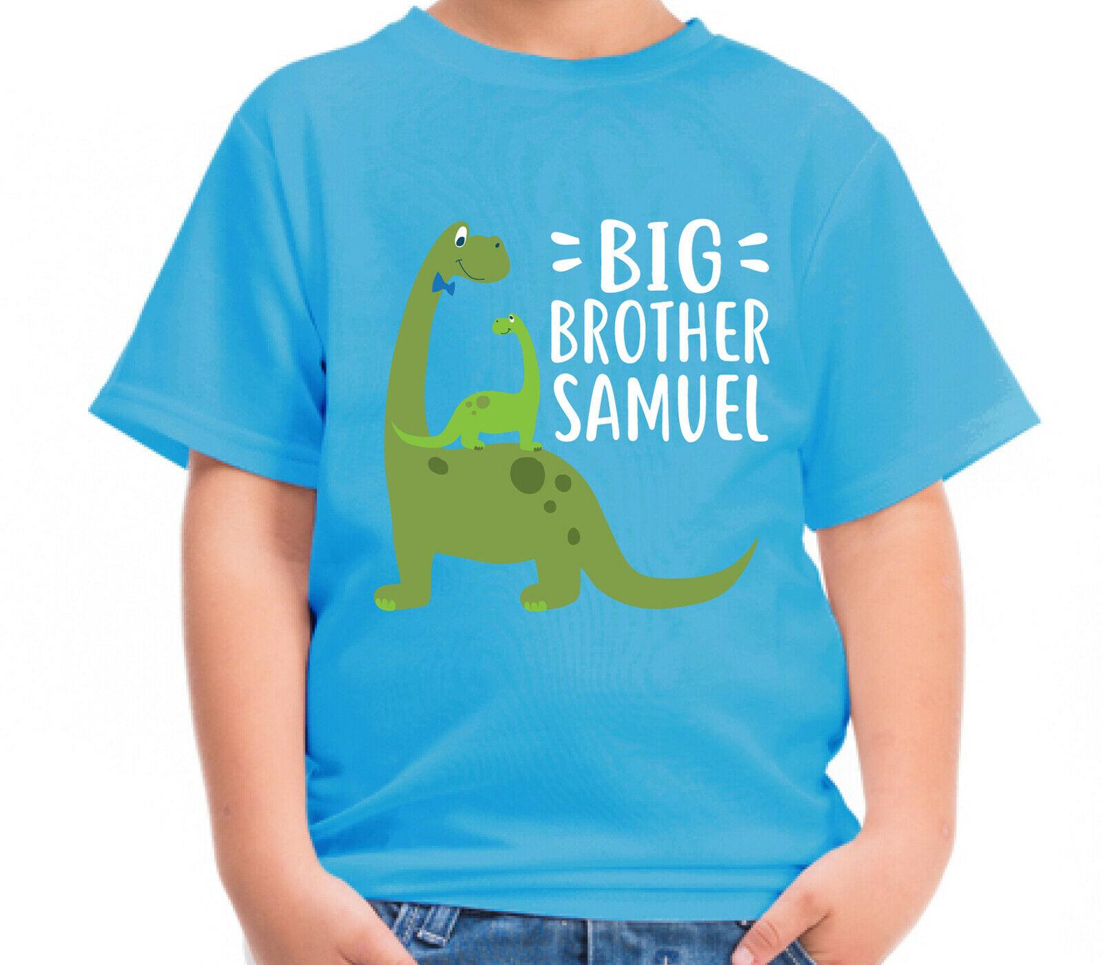 Personalised Dinosaur Big Brother Kids T Shirt Childrens Tshirt Top