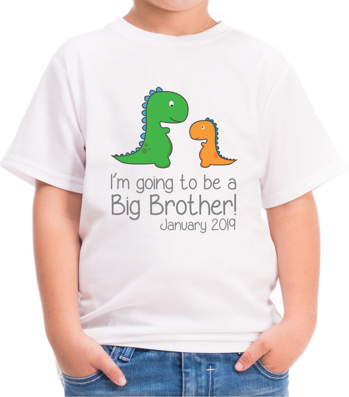 Pregnancy Reveal Gift Boys Dinosaur Big /& Little Brother T-Shirts /& Bodysuits
